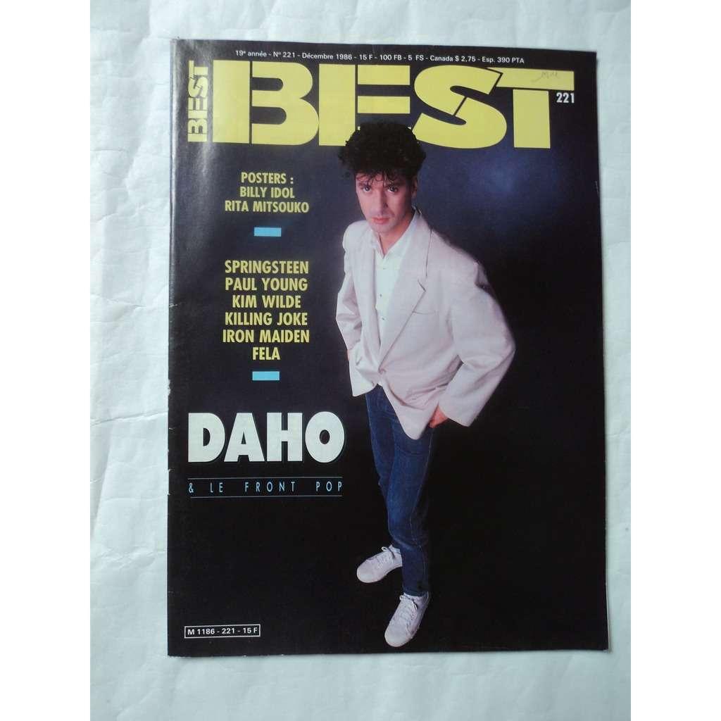 Best Magazine N°221 E DAHO en couverture poster B IDOL / R MITSOUKO toujours agrafé