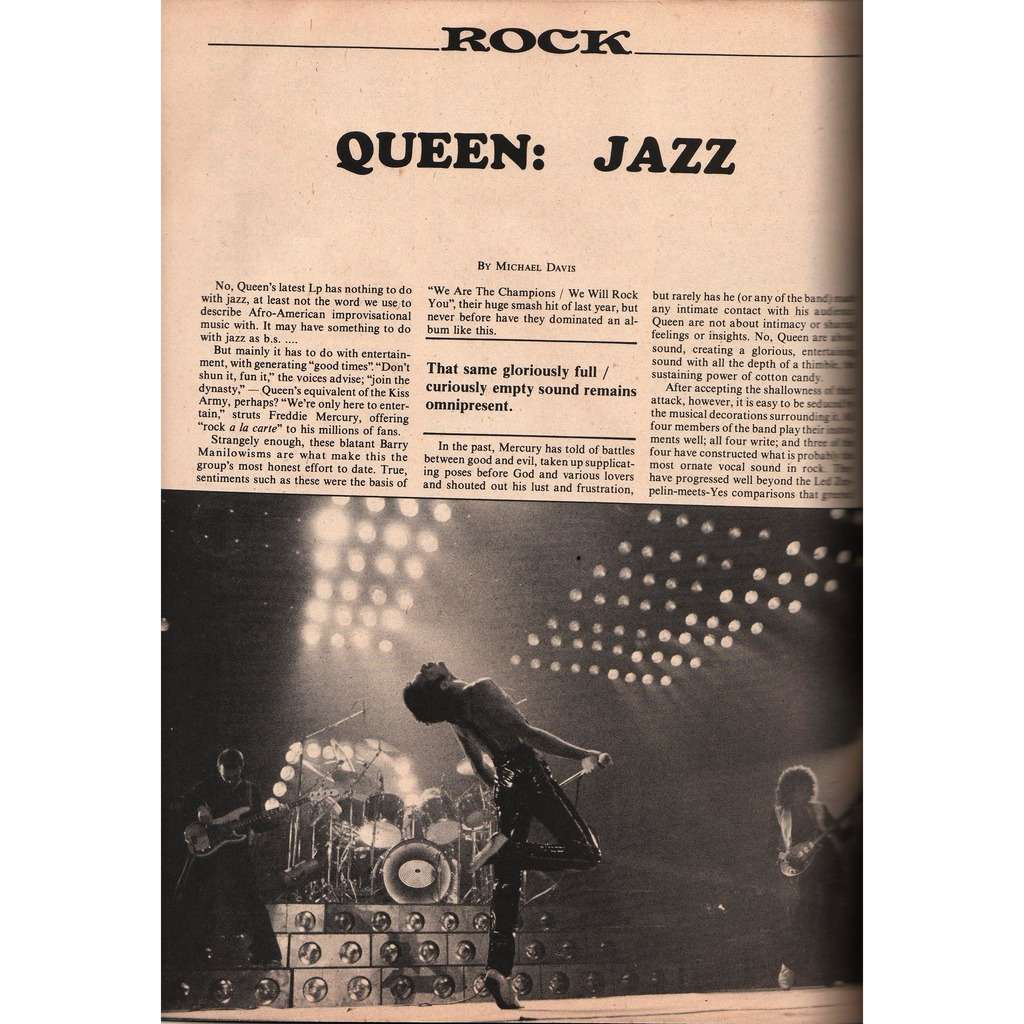 The Queen Record Review (April 1979) (USA 1979 music magazine!!)