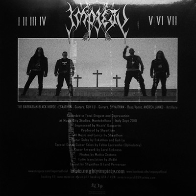 IMPIETY Worshippers of The Seventh Tyranny