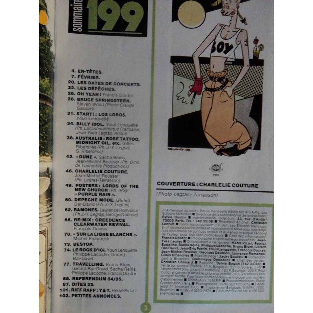 BEST MAGAZINE199 BEST MAGAZINE 199 poster PRINCE / LORDS NEW CHURCH toujours agrafé agrafé