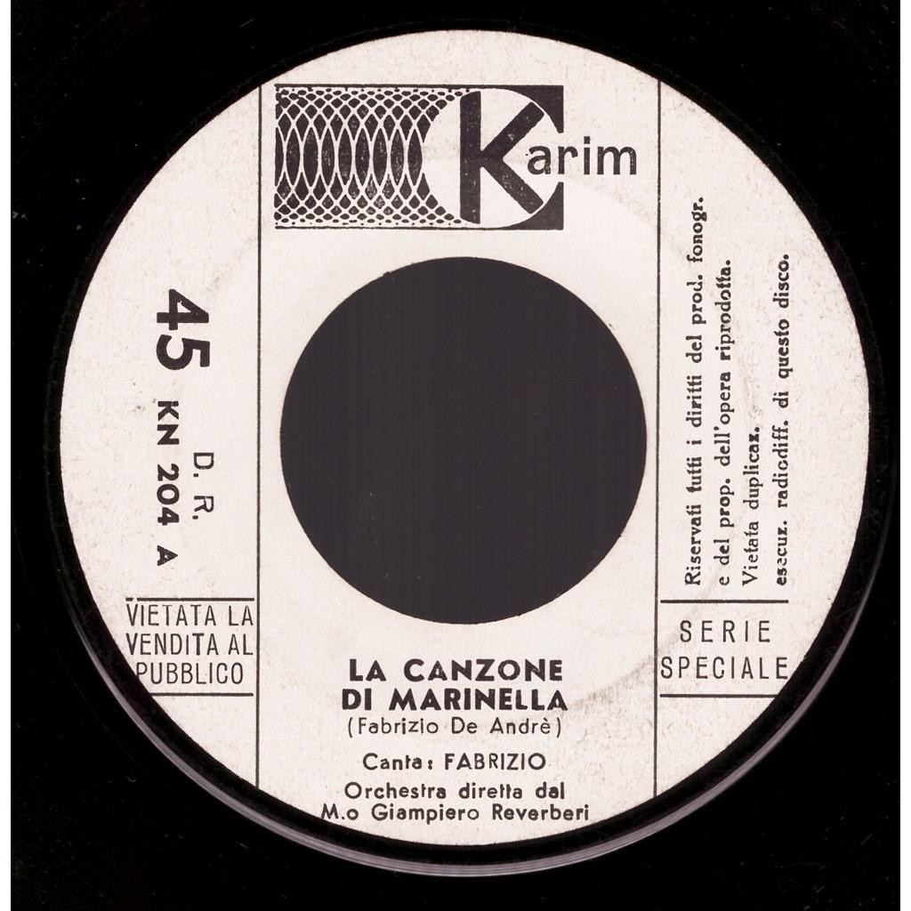 Fabrizio La Canzone Di Marinella / Valzer Per Un Amore