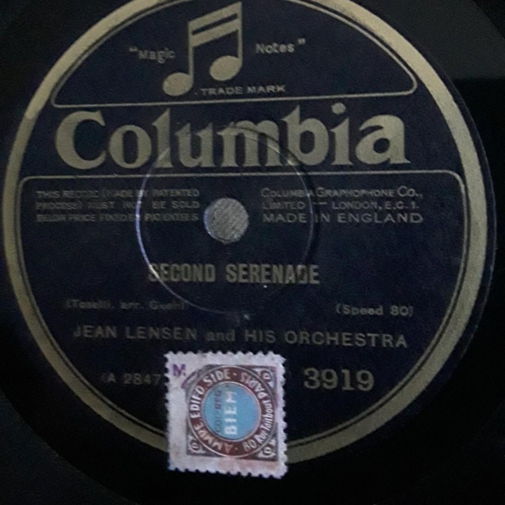 Jean lensen & his Orchestra Second serenade - chanson hindoue