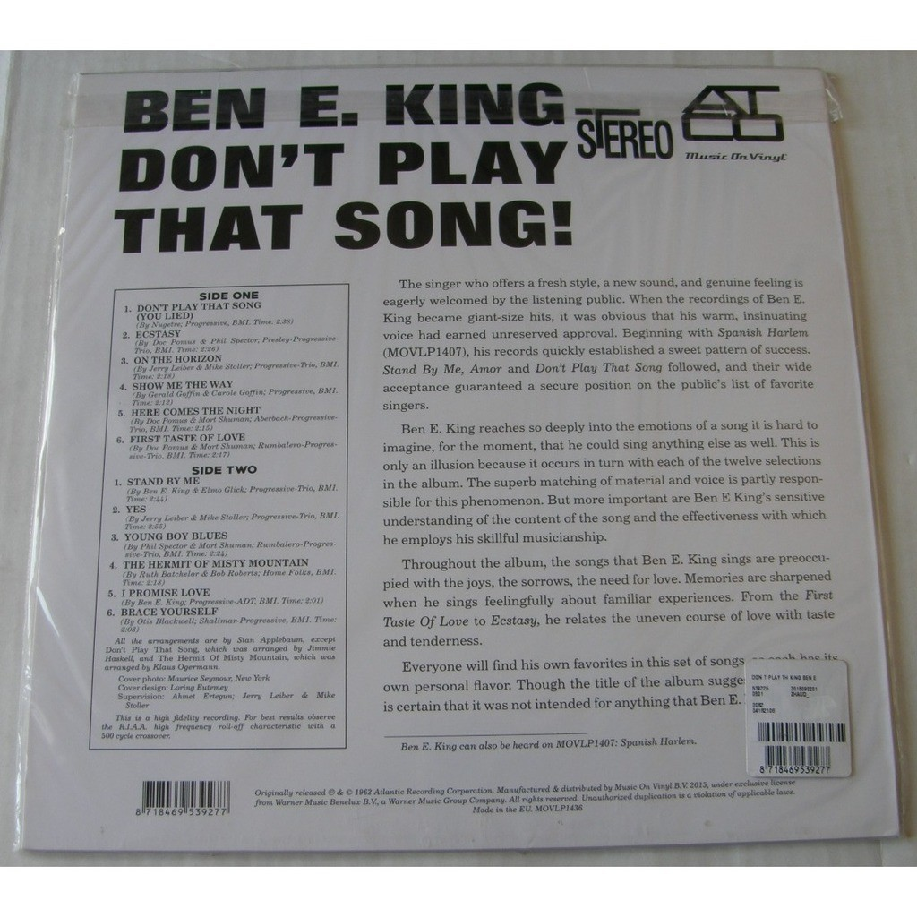 BEN E KING DON'T PLAY THAT SONG