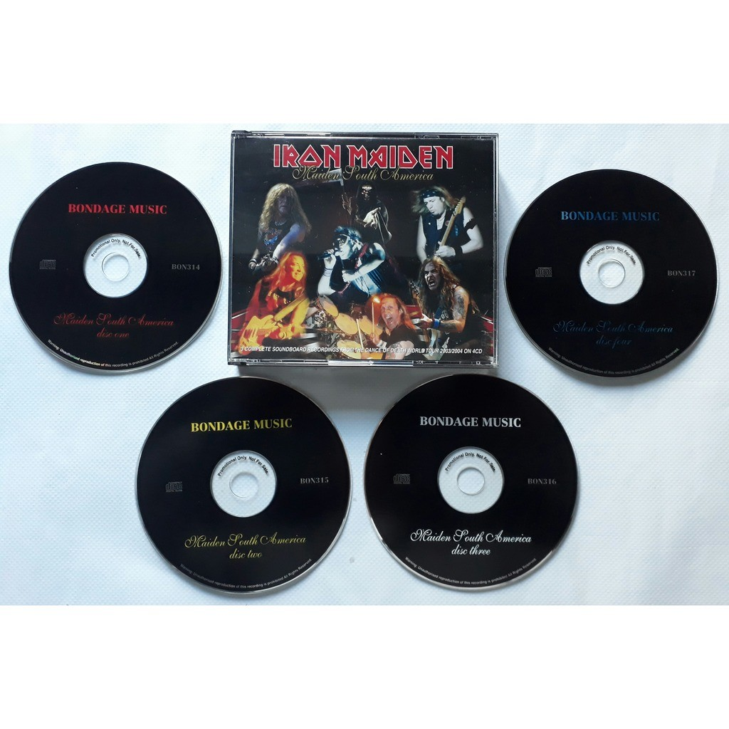 IRON MAIDEN MAIDEN SOUTH AMERICA-Limited édition 4CD-Original-Bondage records-Japon.