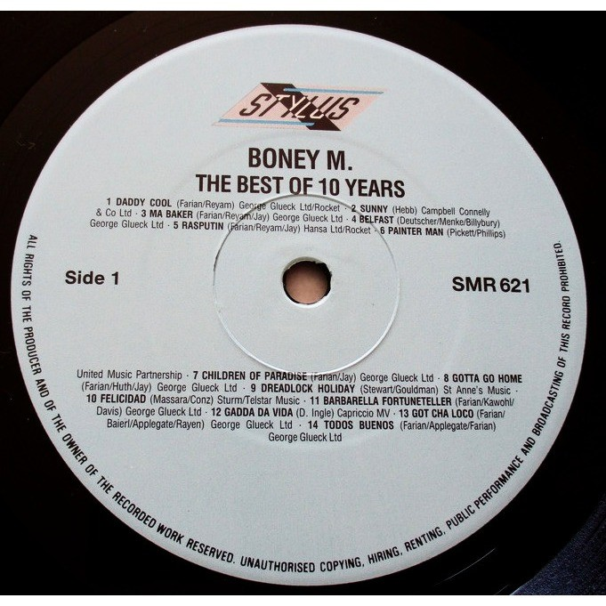 Boney M. 32 Super Hits - The Best Of 10 Years (New Non Stop Digital Remix 86)