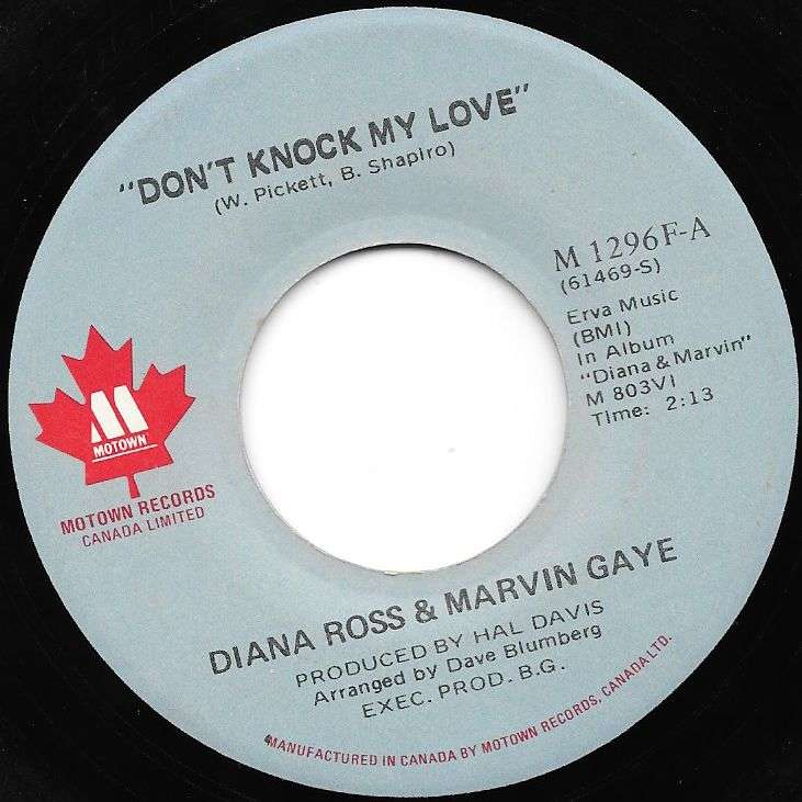 Ross, Diana & Marvin Gaye Don't knock my love / Just say just say