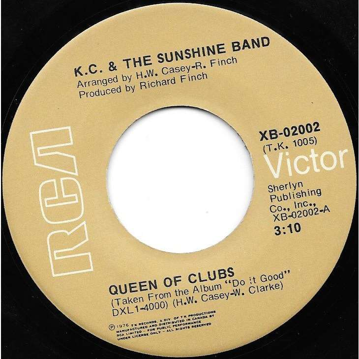 KC AND THE SUNSHINE BAND Queen Of Clubs/Do It Good