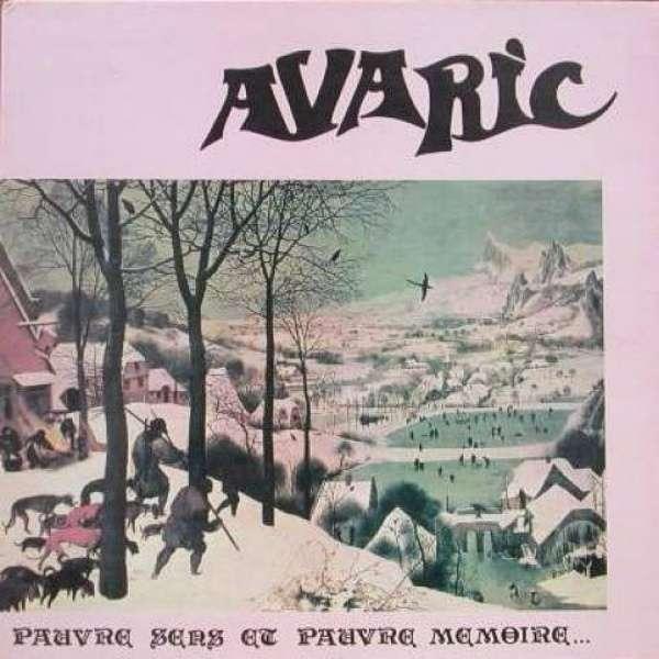 AVARIC Pauvre sens et pauvre mémoire (rare original French press - 1980 - gatefold sleeve)