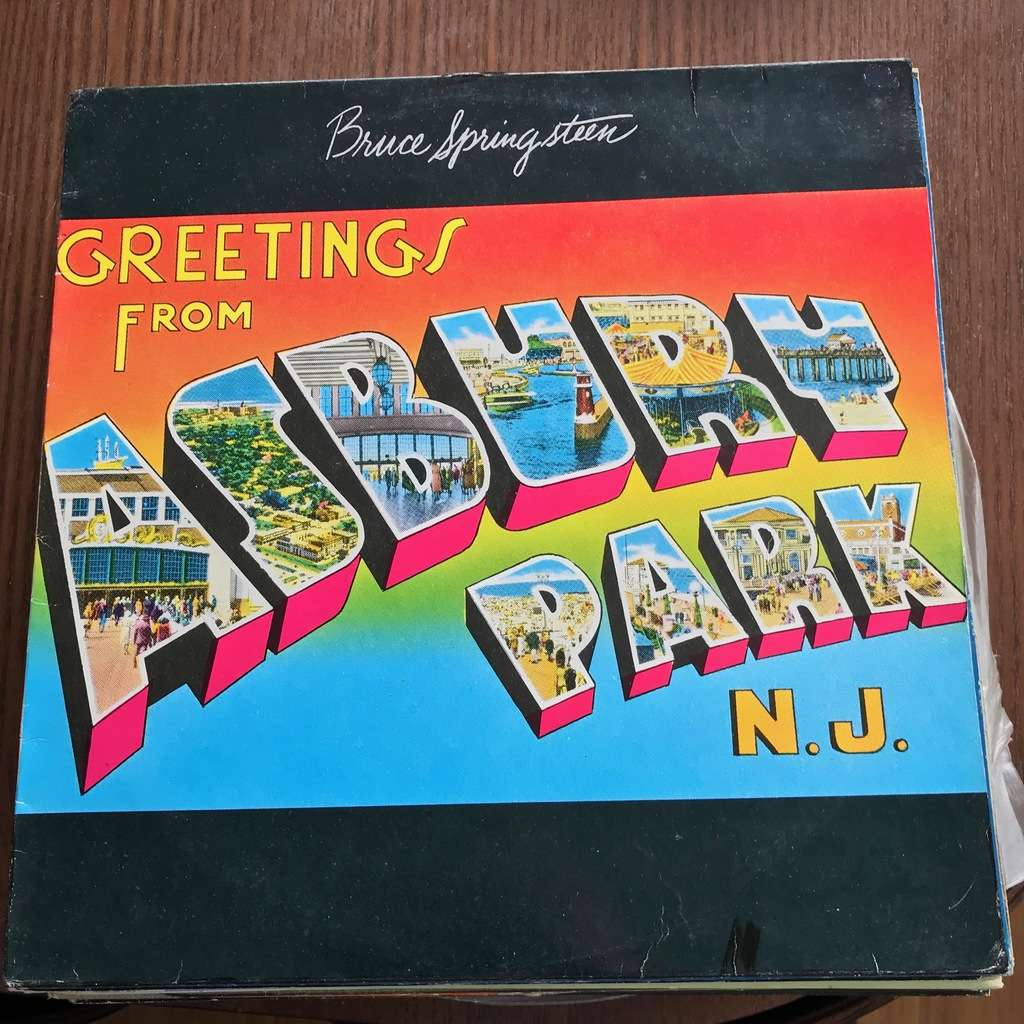 Greetings from asbury park nj by bruce springsteen lp with bruce springsteen greetings from asbury park nj m4hsunfo
