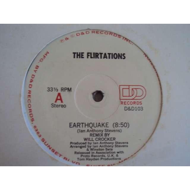 The Flirtations EARTHQUAKE (REMIX 8'50 / ORIGINAL VERSION 6'57 / INSTRUMENTAL 6'57) 1983 USA (MAXIBOXLP)