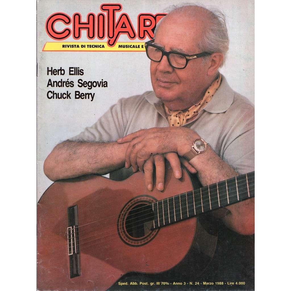 Andre Segovia Chitarre (N.24 March 1988) (Italian 1988 Andre Segovia front cover Guitar magazine!!)