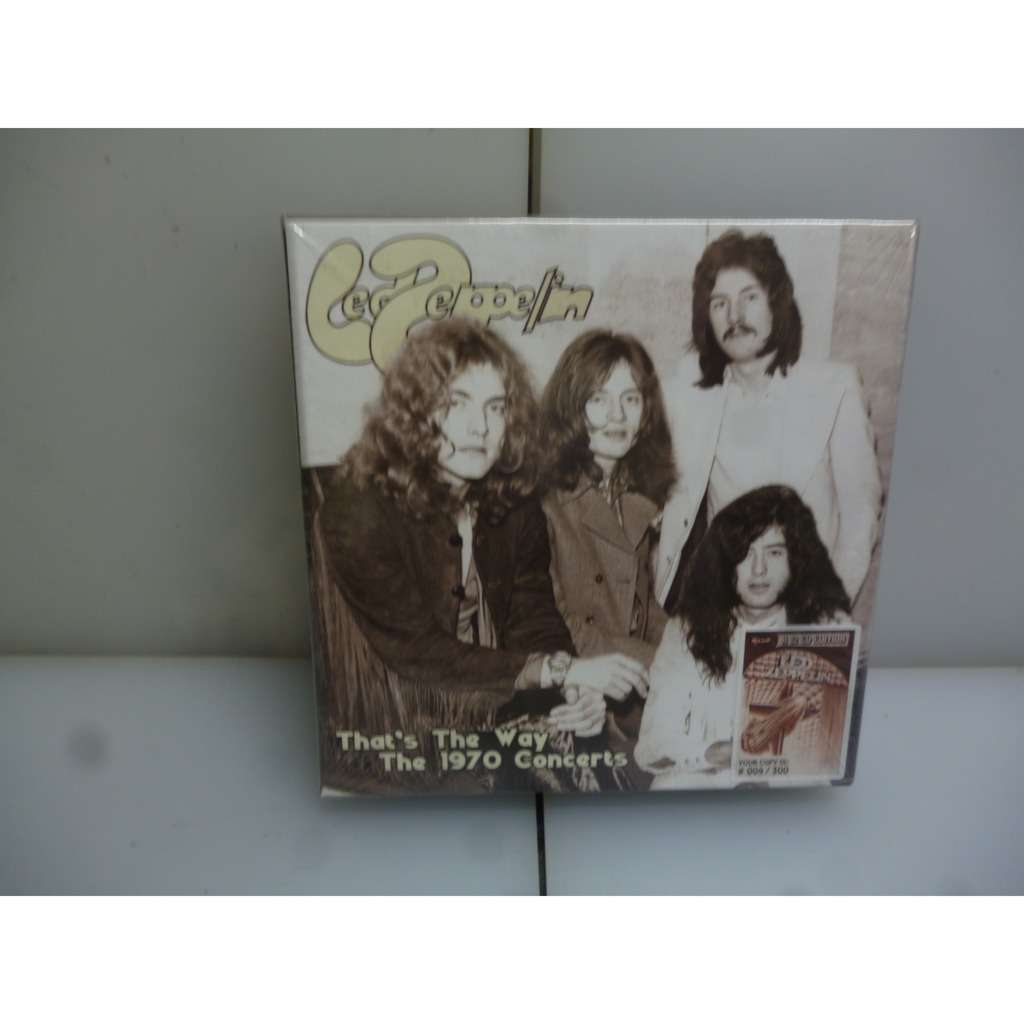 Led Zeppelin LED ZEPPELIN:THAT'S THE WAY. THE 1970 CONCERTS. EU 2018 LTD TO 300 12CD BOXSET.
