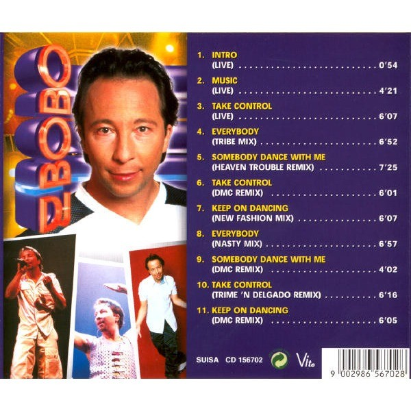 Live and remixes by Dj Bobo, CD with Musicland