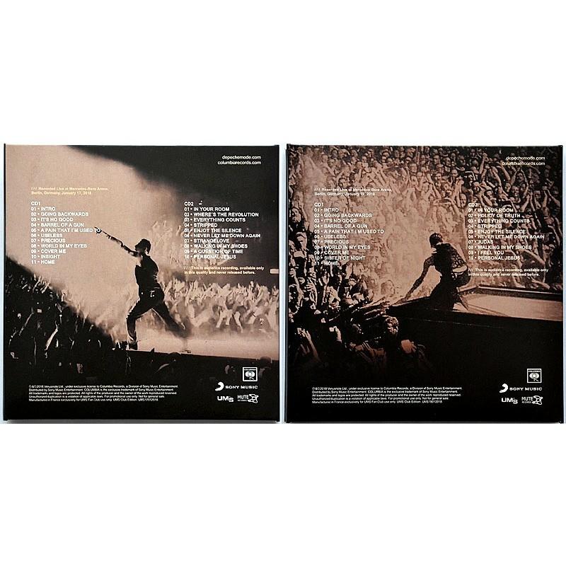 DEPECHE MODE Live at Mercedes-Benz Arena Berlin Germany 17 & 19 January 2018 Global Spirit Tour 4CD set