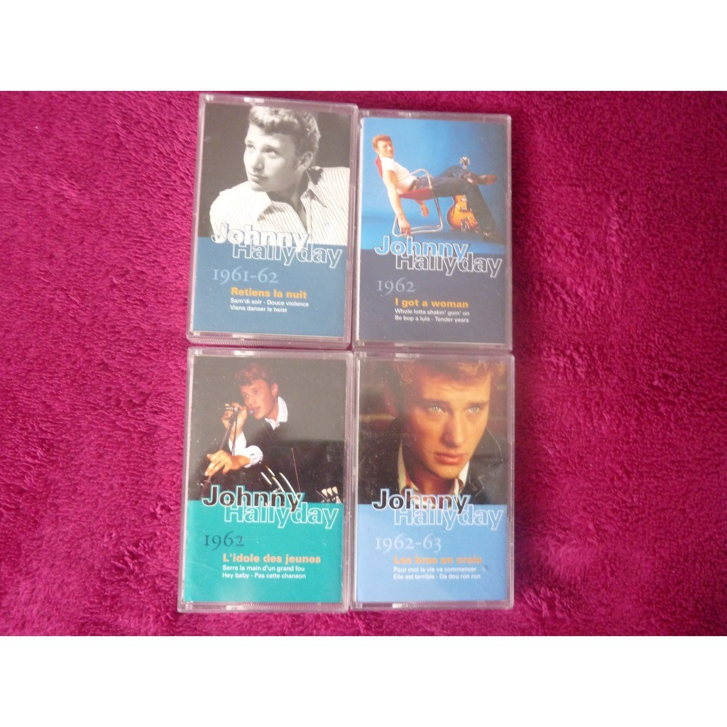 johnny hallyday COLLECTION 1961-63 coffret de 4 cassettes