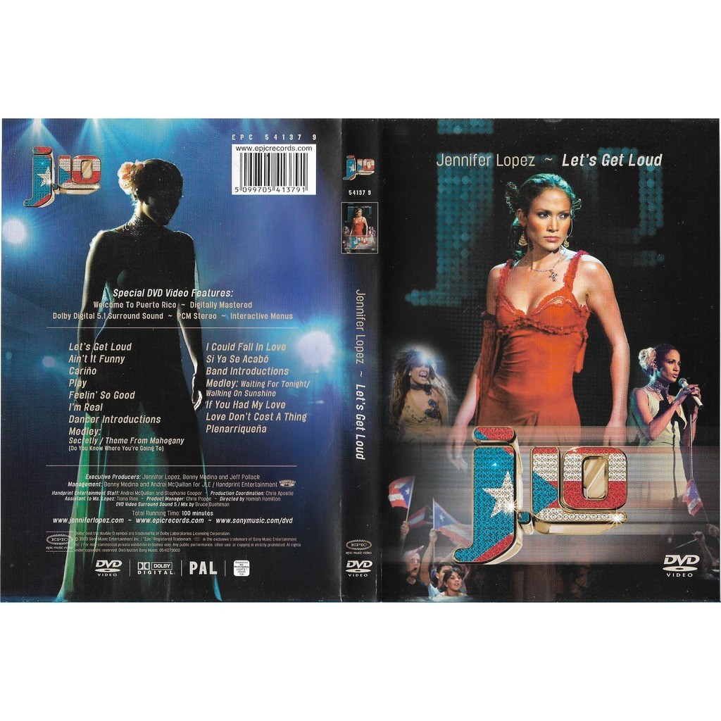 3442e90919 Let's get loud by Jennifer Lopez, DVD with libertemusic - Ref:119105726