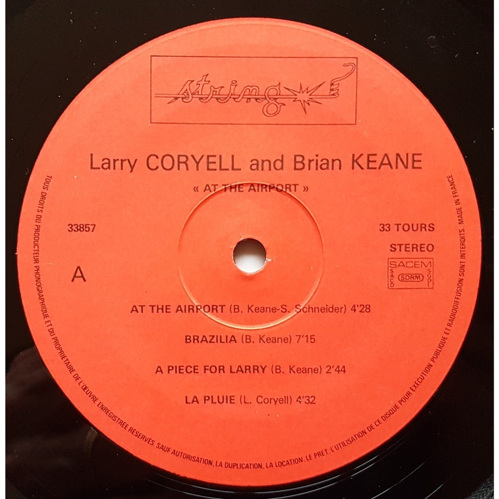 LARRY CORYEL - BRIAN KEANE at the airport