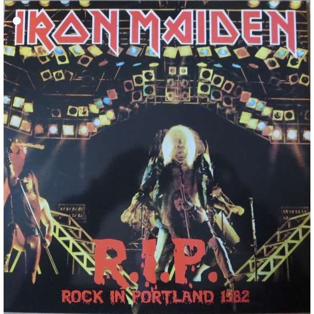 IRON MAIDEN r i p  rock in portland (lp) ltd edit colored