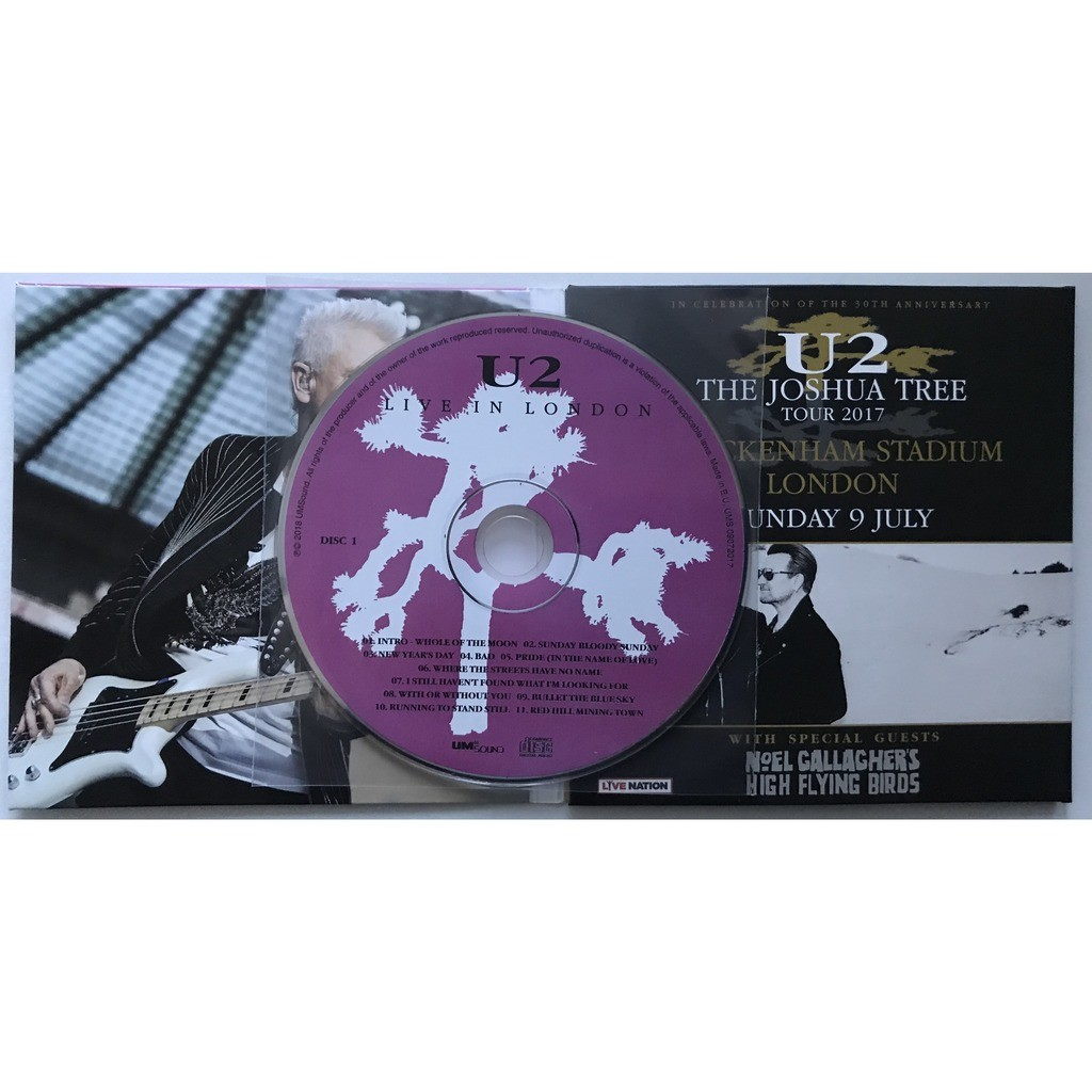 U2 live in london 2017 2nd night the joshua tree tour limited edition by  U2, CD x 2 with ultramusic