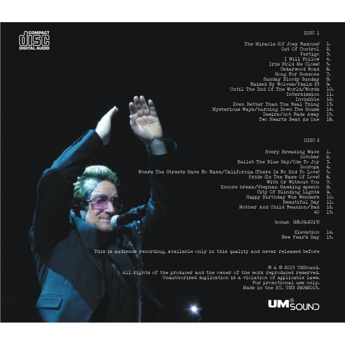 U2 live in berlin germany 2015 innocence experience world tour limited  edition by U2, CD x 2 with ultramusic