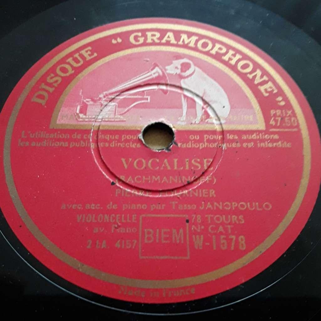 Pierre Fournier - Rachmaninoff - Rimsky Korsakof Vocalise / hymne au soleil  le coq d'or