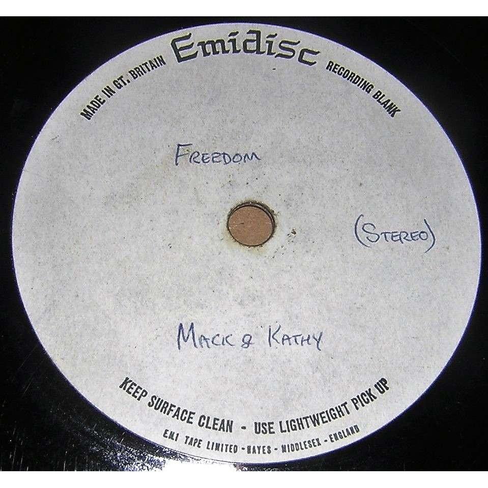 Mac & Katie Kissoon I've Found My Freedom (UK 1972 original 2-trk w/label TEST PRESS 7single Metal Acetate Emidisc lbl)