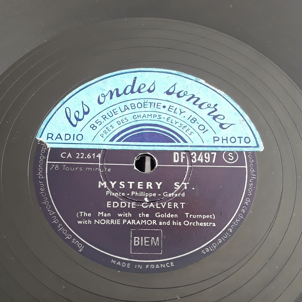 CALVERT Eddie with Norrie Paramor & his Orchestra MYSTERY ST. - OH, MEIN PAPA