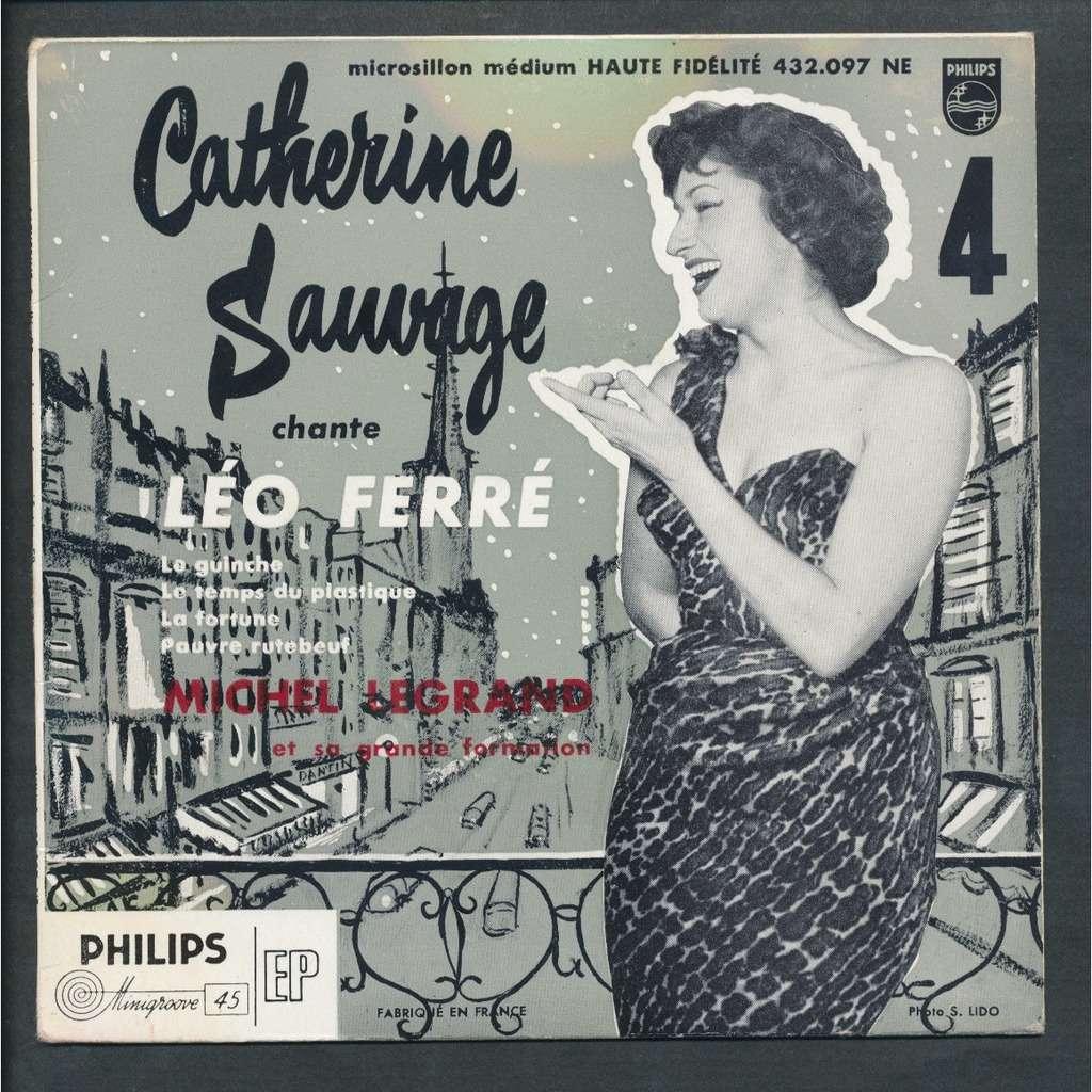 Catherine Sauvage Leo Ferre Le Guinche Le Temps Du Plstique La Fortune Pauvre Rutebeuf
