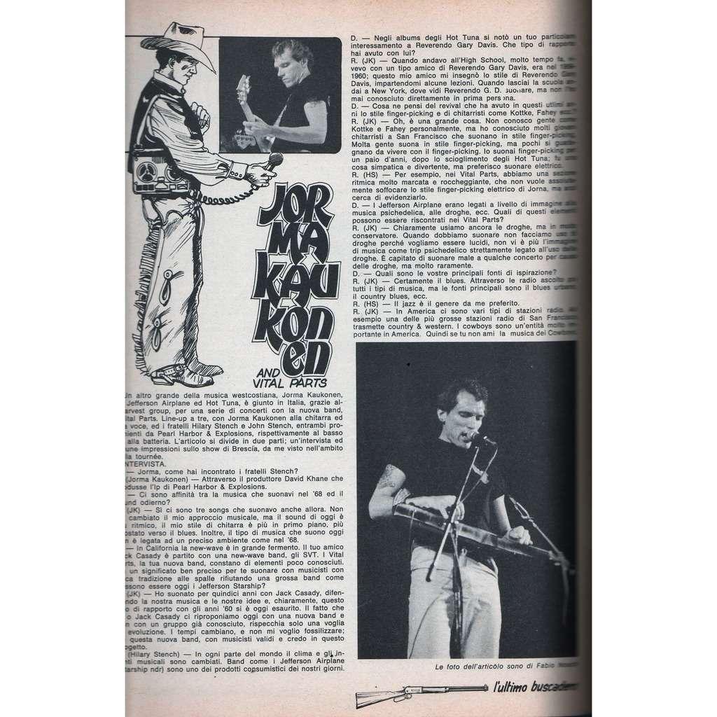 Jorma Kaukonen Buscadero (N.2 Jan. 1981) (Italian 1981 Jorma Kaukonen back cover magazine)