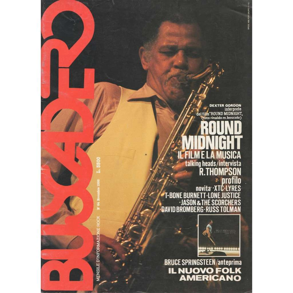 Dexter Gordon Buscadero (N.64 Nov.1986) (Italian 1986 Dexter Gordon front cover music magazine!!)