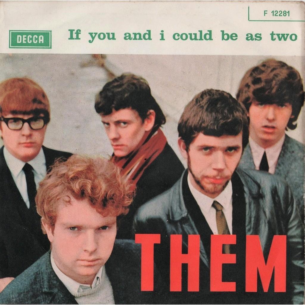 THEM / VAN Morrison Mystic Eyes (Italian 1965 original 2-trk 7single absolutely unique full ps-NO VINYL INCLUDED!!)