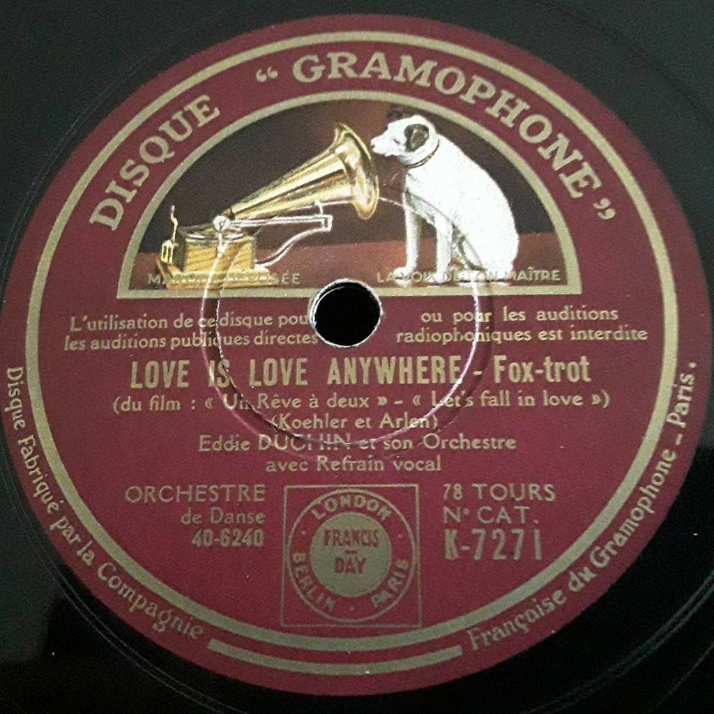 Eddie Duchin et son orchestre Let's fall in love ( un reve a deux ) - Love is love anywhere