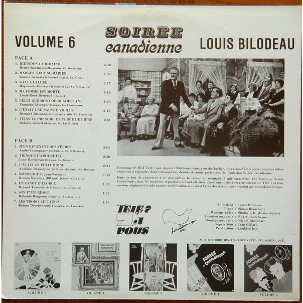 lOUIS BILODEAU SOIREE CANADIENNE VOLUME 6