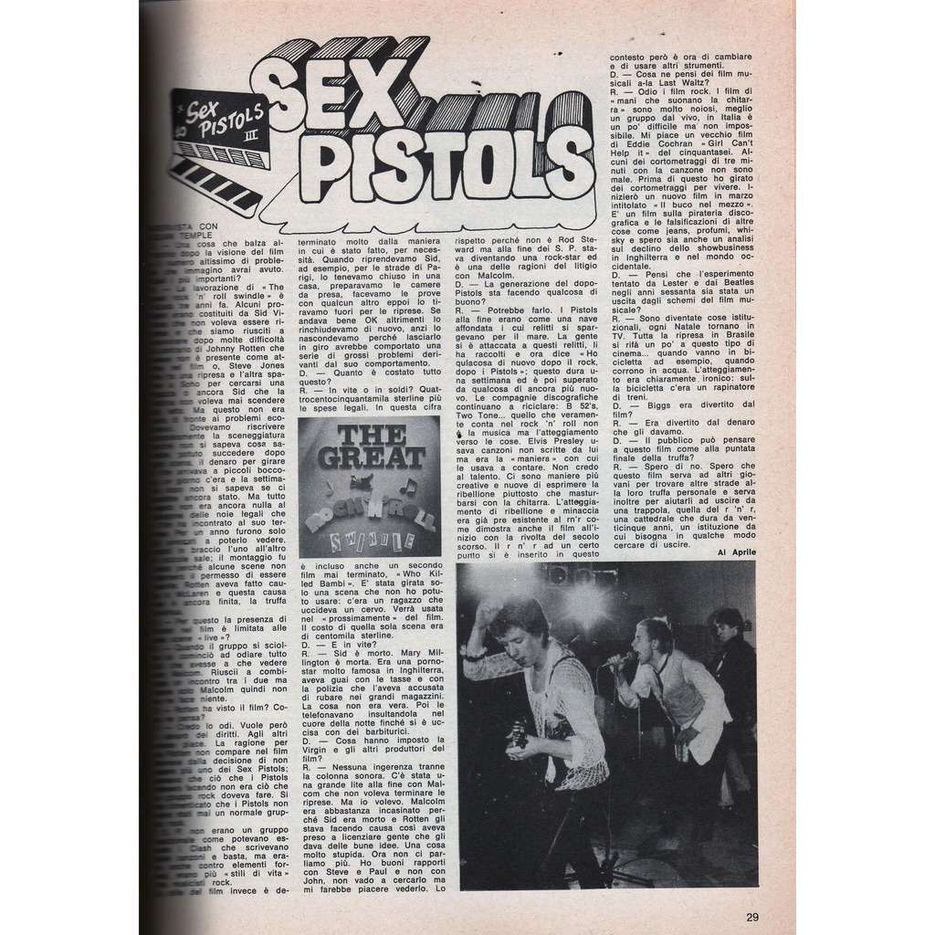 Sex pistols number 3 film