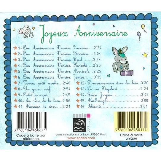 Joyeux Bon Anniversaire Les Chansons Pour L Anniversaire De Quentin By Bon Anniversaire Cd With Omni10
