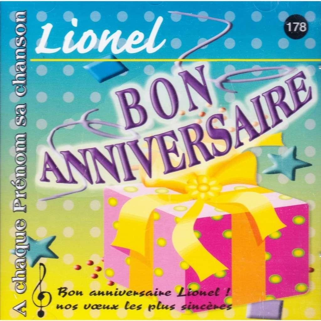 Joyeux Bon Anniversaire Lionel De A Chaque Prenom Sa Chanson Cd