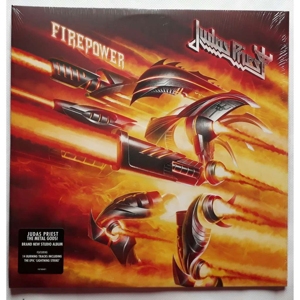 773dd27cffa JUDAS PRIEST FIREPOWER-Limited édition 2lp red vinyl getefold  sleeve-Original-2018-Sony