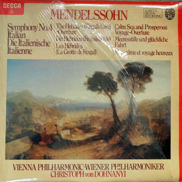 Christoph von Dohnanyi Mendelssohn : Symphonie n°4