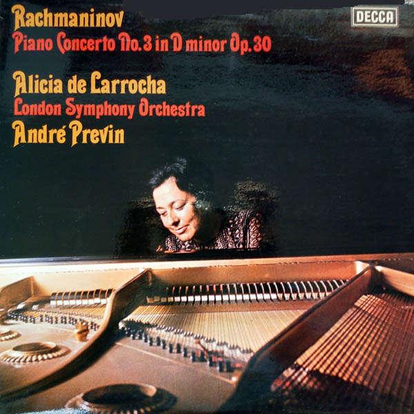 alicia de larrocha Rachmaninov : Concerto piano n°3