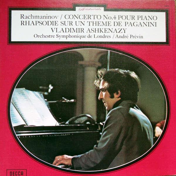 vladimir ashkenazy Rachmaninov : Concerto piano n°4