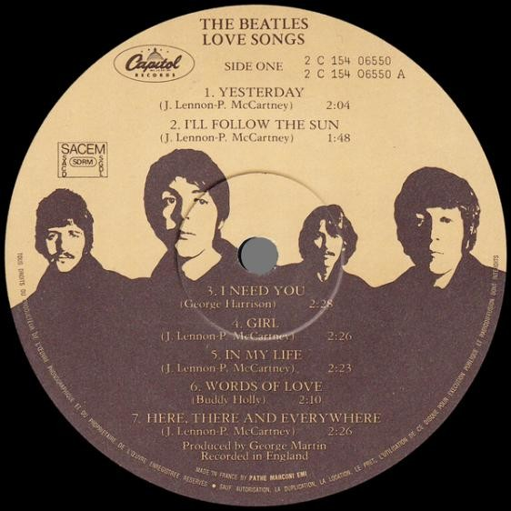 The Beatles Love Songs ( Compilation 24 Tracks )