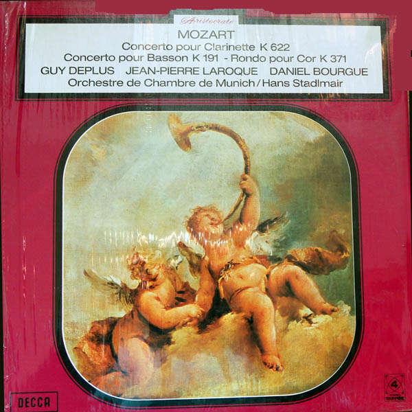 Hans Stadlmair Mozart : Concerto pour clarinette, pour basson