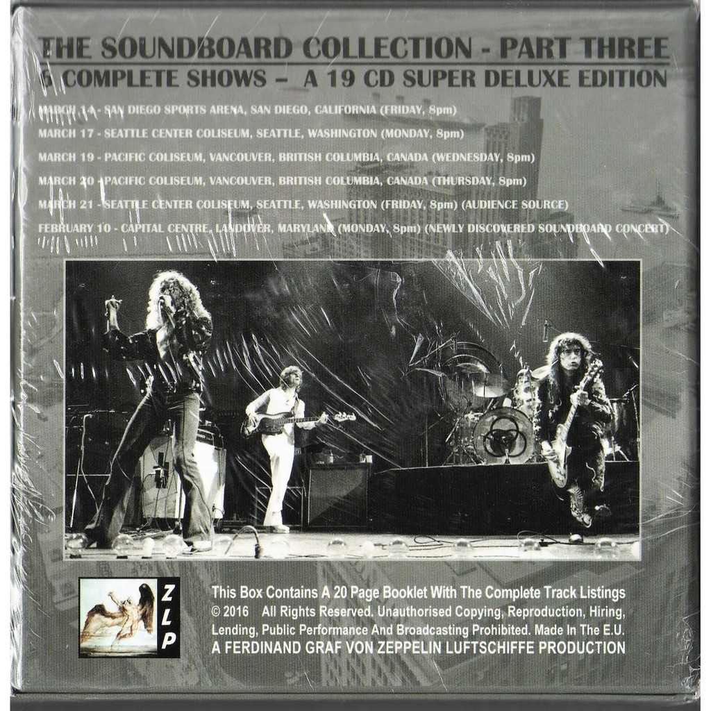 Us Tour 1975 The Soundboard Collection Part Three Ltd