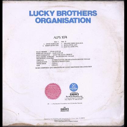 Lucky Brothers Organisation Onye Egbulam