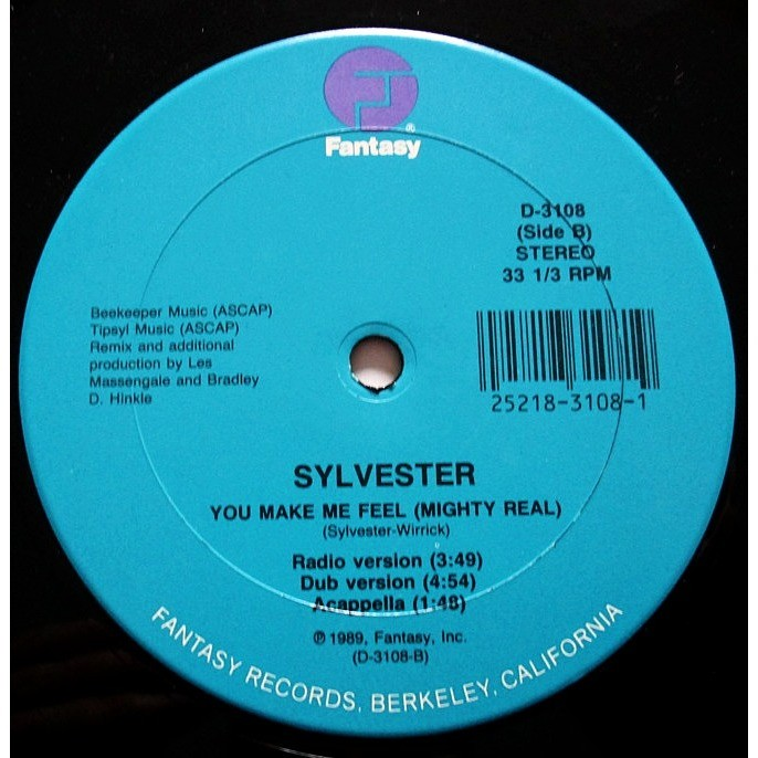 You make me feel (ultimix / radio version / dub version / acapella) 1989  usa by Sylvester, 12inch with dj-kurt