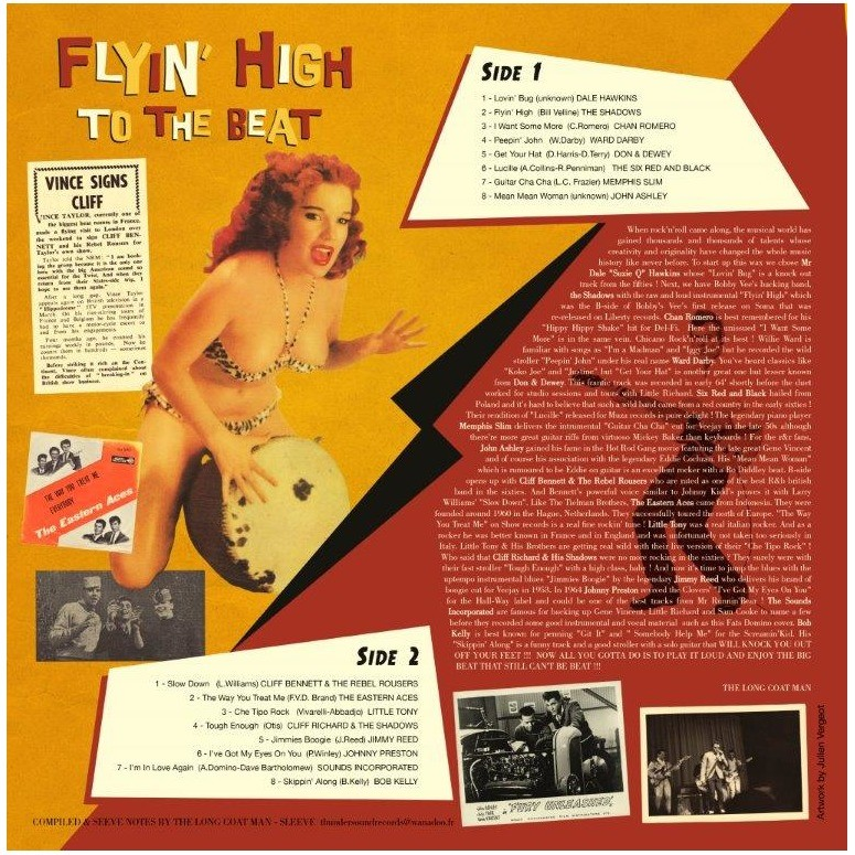 COMPILATION ROCK N ROLL EARLY FIFTIES AND SIXTIES FLYIN' HIGH TO THE BEAT ! VOL 1&2 PACKAGE OF TWO