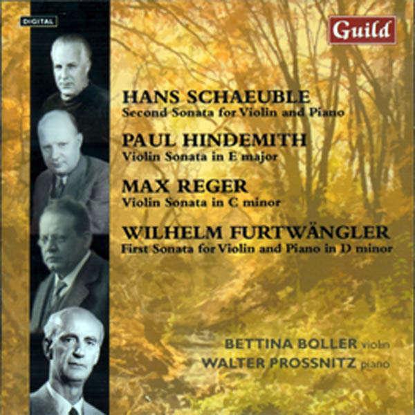 Bettina Boller, violon & Walter Prossnitz, piano Schaeuble, Reger, Hindemith, ...