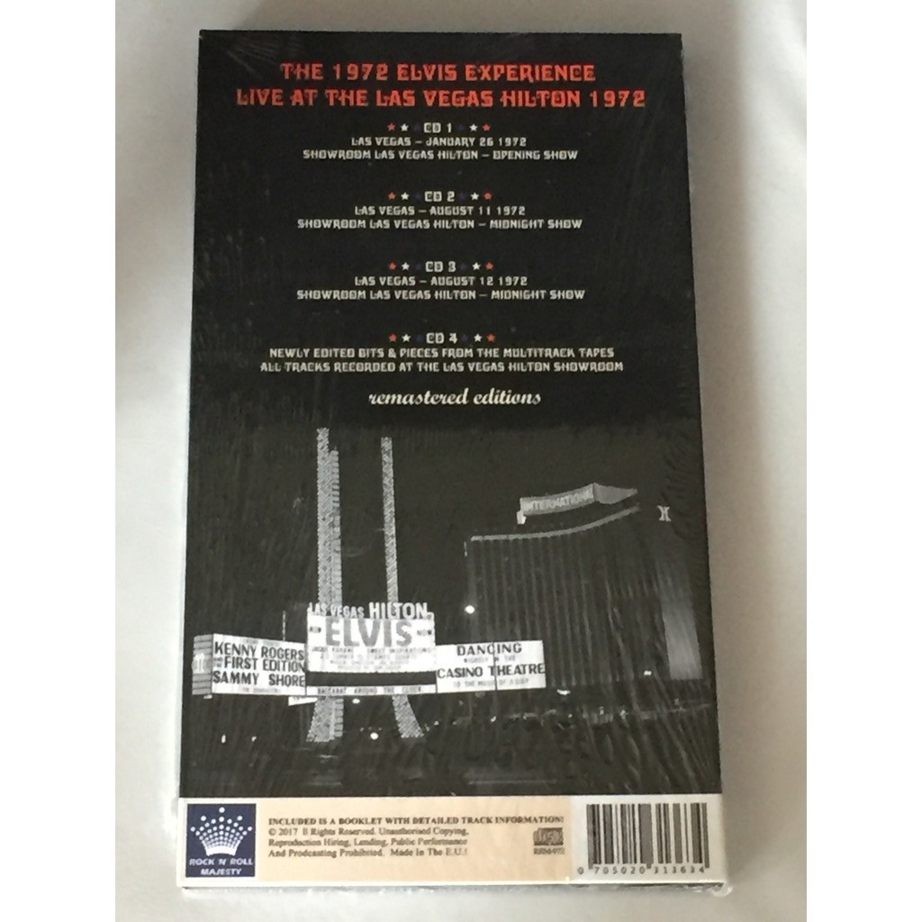Live at the las vegas hilton 1972 - remaster editions by Elvis Presley, CD  x 4 with bringemhome71