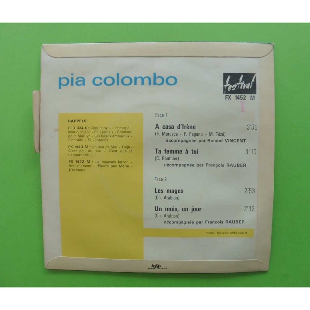 A casa d irene + 3 by Pia Colombo ( Languette ), EP with leshauts78 -  Ref 119131514 9e00ee73b99