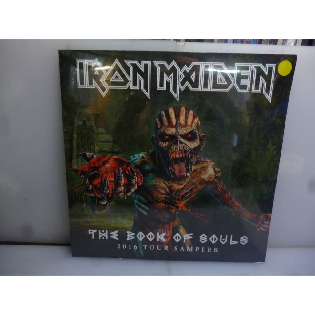 Iron Maiden The Book Of Souls. 2016 Tour Sampler. Polish 2016 Yellow Vinyl LP.